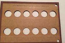 Wayte Raymond Board Unused U S $3     Gold Coins BLANK 12 Holes.  #414