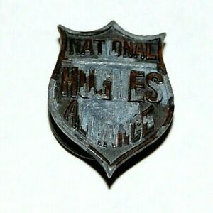 1916 CHARLES EVANS HUGHES NATIONAL ALLIANCE STUD campaign pin pinback button