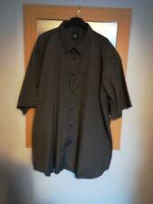 Big Mens 5 XL Charcoal fine strip short sleeve Laviino Italy Fashion Grey