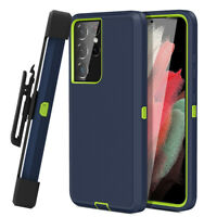 For Samsung Galaxy S21+ Ultra 5G Heavy Duty Stand Cover Bumper Case +Belt Clip