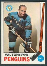 1969 70 TOPPS HOCKEY 119 VAL FONTEYNE NM PITTSBURGH PENGUINS CARD