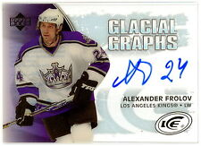 2005-06 UD GG-AF ICE ALEXANDER FROLOV GLACIAL GRAPHS WITH AUTO SIGNED L A KINGS