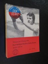 DDR Fußball Programm 07 DDR ( DFV) - Island 1978 Länderspiel