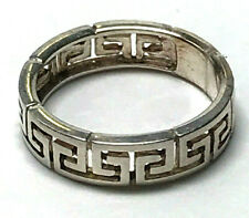 Vintage Ring Sz7 w/ Aztec Cutout Design Band Ring 925 Sterling Silver