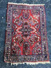 Antique Oriental Rug - Red - 3x2