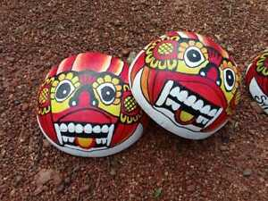 Ceylon Handmade Deco Colorful Coconut Shell Mask Organic Mask 100% Eco Friendly