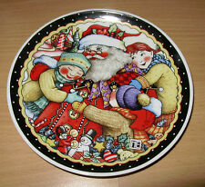 "Mary Engelbreit Santa Claus 7"" Plate Christmas Holiday Xmas M E Ink"