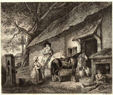 EAU FORTE 1860 / LA HALTE Georges Morland 1763-1804
