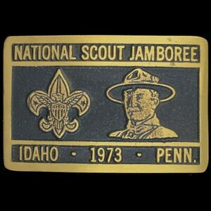 Max Silber 1973 National Scout Jamboree BSA Boy Scouts Vintage NOS Belt Buckle