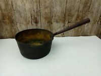 Vintage 7 Inch Brass Stove Pan With Iron Handle