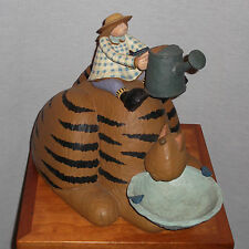 "WILLIRAYE STUDIO FOLK ART SCULPTURE""2003""  ""KITTY BIRD BATH FEEDER"" MODELWW7206"