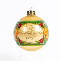 1979 Vintage Hallmark Our First Christmas Together Glass Ball Ornament Rare