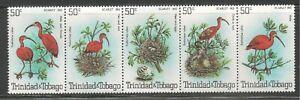Trinidad & Tobago #328 (A88) VF MNH STRIP - 1980 50c Scarlet Ibis Birds