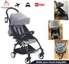 Grey - Compact Lightweight Baby Stroller Pram Easy Fold Travel Carry-on YOYO
