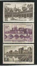 06X) FRANCE 1941* MONUMENTS ET SITES - Yvert 499/501 Sans Gomme (MNG)