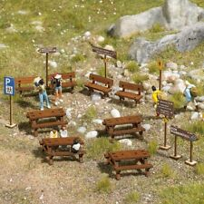 Benches in Wood H0 Scale 1:87 Diorama Model Busch