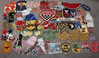VINTAGE HUGE LOT OF PATCHES 1960-70'S FUNKY/VEGETABLES/MILITARY/GTO/SCHAEFER+