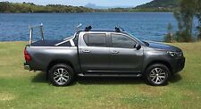 Tradesman rack / Ladder rack set - Toyota SR5 Hilux MY16 - Polished aluminium
