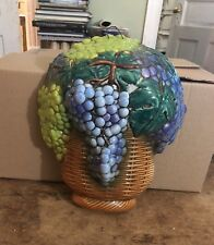 Goebel large wall hanging grapes in basket leaves fruit