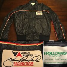 RARE Vtg Vermont American Racing Team Johnny Rutherford Jacket Holloway Size L