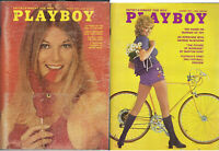PLAYBOY 1971 Lot of 2 - March and August-Dutch Girls, Mayor Daley, Geo McGovern