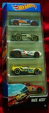 NEW Hot Wheels Collectors 5 PACK Race Aces Vehicles Die-cast 1:64 scale