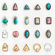 20pcs 3D Nail Art Studs Bohemian Style Marble Nail Rhinestones Nail DIY Jewelry