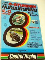 12 13. Juin 82 Nordschleife sans Gewinnlos Nürburgring Brochure de Programme Å