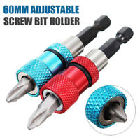 Adjustable Screw Depth Bit Holder 1/4'' Hex Driver Magnetic Tip Home Hand ToolKK