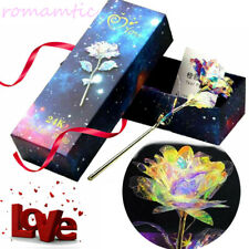 Galaxy Gold Rose & Love Valentin Gift Foil Plated Everlasting Crystal Flower FI