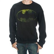 NWT DC COMICS distressed BATMAN crewneck FLEECE sweater SWEATSHIRT sz- 2XL xxl