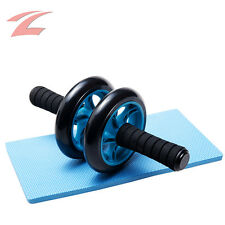 ZNL Bauchtrainer-Roller AB-Wheel Bauchmuskeltrainer mit Fitnessmatte Bauchroller