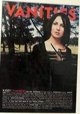 KASEY CHAMBERS HAND SIGNED MAGAZINE ARTICLE 41 cm x 31 cm