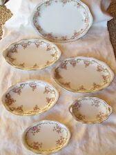 1920's Set of 6 Porcelain 'Mignon' Rose SERVING PLATTER SET  Z.S & Co, Bavaria