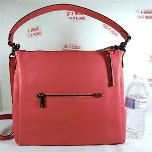 COACH 93811 Shay Shoulder Pink Pebbled Leather Hobo Bag