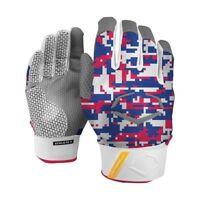 EvoShield Digi Camo Prostyle Protective Batting Gloves Adult Red/Royal (Pair)