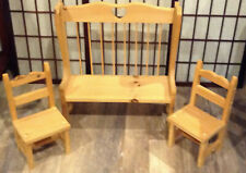 Bench and 2 chairs ( for Dolls)