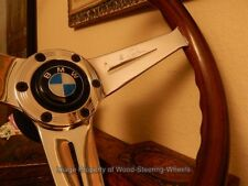 BMW E10 1800 Wood Steering Wheel Deep Dish NARDI BMW Vintage Hub BMW Horn Button