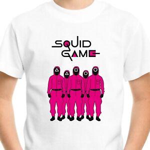 Squid Game T-Shirt Men's Adults Kids Gift Birthday Netflix Fan Gamer Top Tee V1