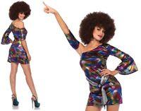 Disco Chick Costume, 8-14, 60's, 70's, 80s Party, Leg Avenue, Retro Groovy Dress