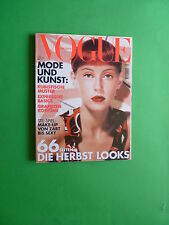 Vogue DEUTSCH september 2000 Colette cover Germany Fashion magazine
