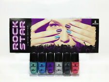 NEW- Jessica Nail Lacquer 0.4oz/12ml- ROCK STAR KIT- 3D Glitter Effect- 6 colors