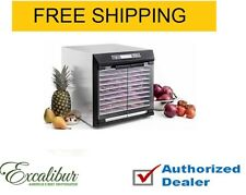 Excalibur Stainless Steel 10-Tray Dehydrator W/Stainless Steel Trays, 220 V