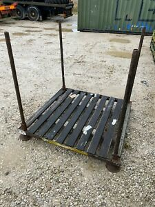 Metal Stillage Stackable Storage Crate Pallet Forestry Logs Store
