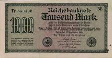 1923 Germany Weimar Republic Hyper Inflation 1000 Mark Banknote