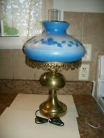 Vintage Electric Hurricane Table Lamp Works