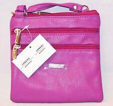 Women Ladies Leather Style Cross Acrossbody Shoulder Messenger Bag Zipped