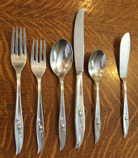 25 PIECES INTERNATIONAL ROGERS MAGIC ROSE SOUP TEA SPOONS FORKS KNIVES