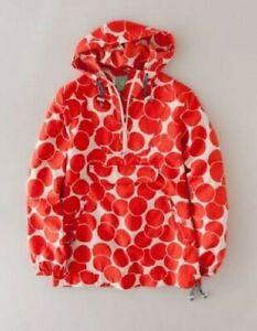 Boden Uplifting Mac Coral Polka Dot Pullover Jacket US 4