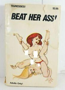 Tigresses Beat Her Ass Vtg 1980s Risque Sleaze Erotic Pulp Paperback Book TG-127